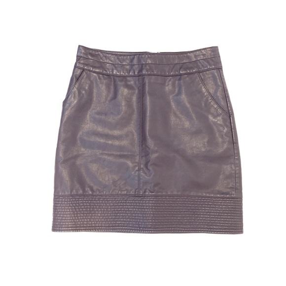 78f26a0836 Anthropologie Dresses & Skirts - ANTHRO | Vanessa Virginia Faux Leather  Mini Skirt